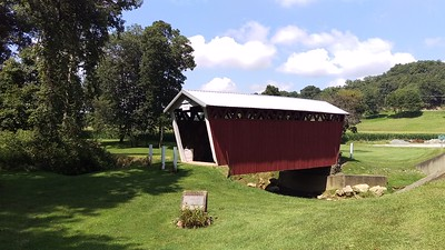 A Summer Day at Trusal Covered Bridge