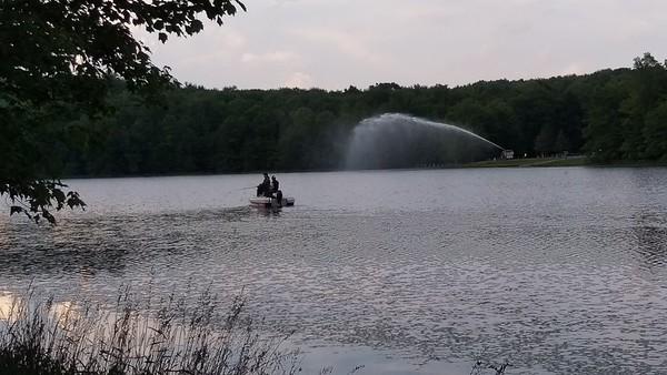 Water Spray at Hemlock Lake