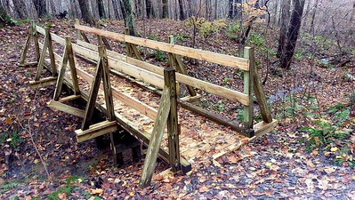 New Trail Bridge on Trillium Trail