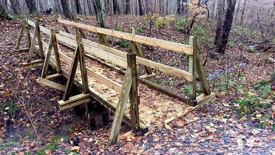 New Trail Bridge on Trillium Trail