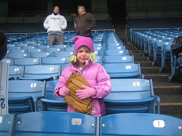 Julianna at Yankee Game 01