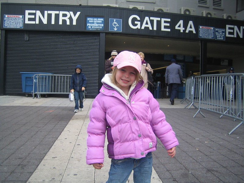 Julianna at Yankee Game 11