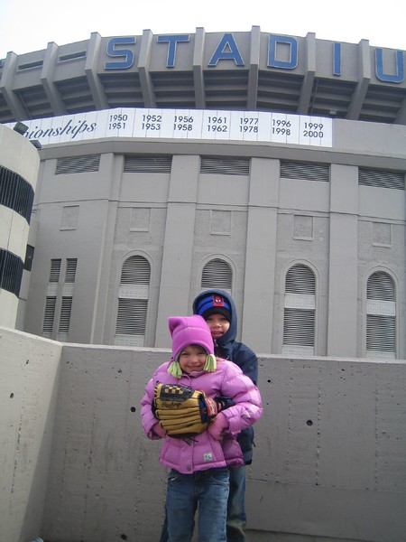 Jack and Julianna at Yankee Game 03