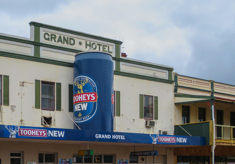 Australia's largest beer can (Grand Hotel) - Cobar, New South Wales
