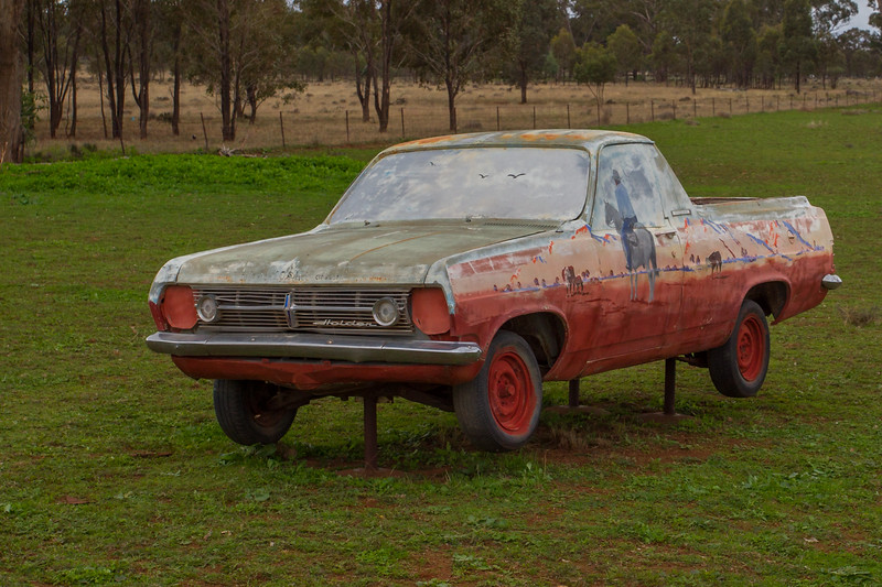 "1966 HR Ute - Condobolin, New South Wales<br /> ""Supplementary Feeder"" Artist: Bill O'Shea"