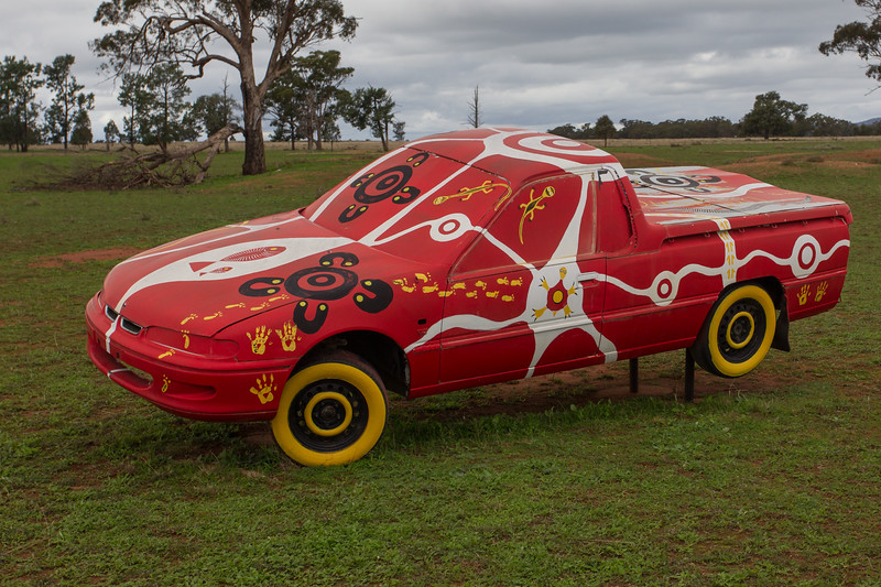 """1993 VS Ute - Condobolin, New South Wales<br /> """"Wired jury 'Uth' Story Artists: Young People of Condobolin Youth Services"""
