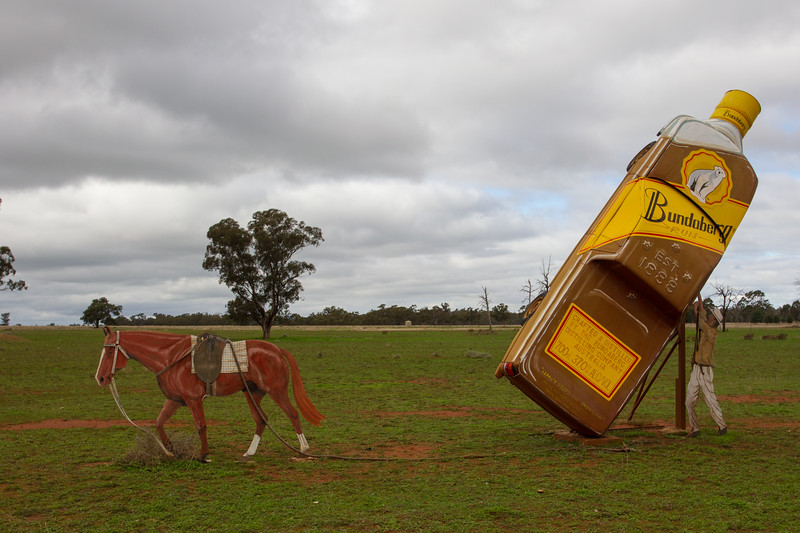 """1991 VS Ute - Condobolin, New South Wales<br /> """"Clancy Stops The Overflow"""" Artist: Peter Mortimore"""
