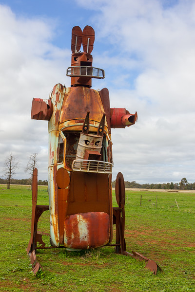 "1957 FE Ute - Condobolin, New South Wales<br /> ""UteZilla"" Artists: Jim Moginie & Stephen Coburn"