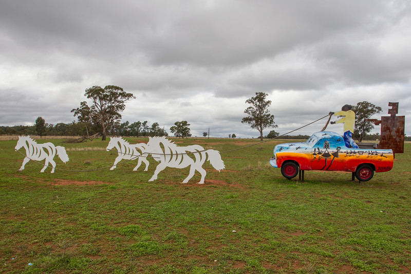 "1954 FJ Ute - Condobolin, New South Wales<br /> ""Clean Running Backed by Ned"" Artist: Paul Blahuta"