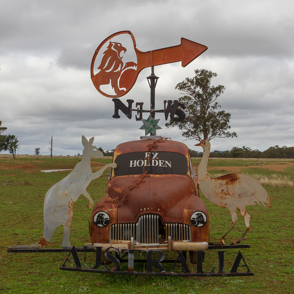 "1952 FX Ute - Condobolin, New South Wales<br /> ""Ute of Arms"" Artists: Brad Brown & Scott Edwards"