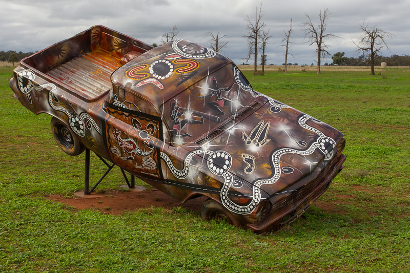 "1964 EH Ute - Condobolin, New South Wales<br /> ""TribeUte"" Artist: Lewis Burns"