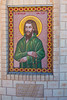 "Farm Chapel  ""Christ the King"" on Farm ""Bolo"" - Condobolin, New South Wales. Mosaic of Saint Nicholas von Flue, Hermit and Patron of Switzerland."