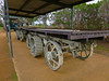 Daimler-Renard Road Train Trailers - Ilfracombe, Queensland<br /> The Daimler-Renard road train was purchased by Isis Downs Station, Isisford in 1912, and used until 1930. The Prime Mover was a 6 cylinder petrol Daimler-Knight, towing 3 trailers each carrying 30 bales of wool, 70 miles to Ilfracombe. A one day journey, which used a lot of petrol.