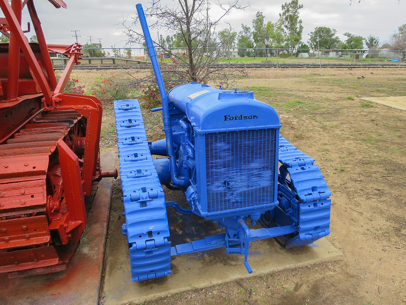 The Hartree Full-Track - Ilfracombe, Queensland<br /> A 1930 model Fordson made in Cork, Ireland.<br /> Hartree in Morella purchased it second hand. It was originally a wheeled model. The tracks came from an older model Fordson.. Used for pushing the WEIR grader & pulling a scoop.