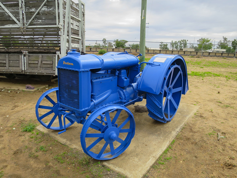 The 1924 Fordson - Ilfracombe, Queensland<br /> Was used to pull a drawn grader, for sawing firewood and pulling a hay baler.