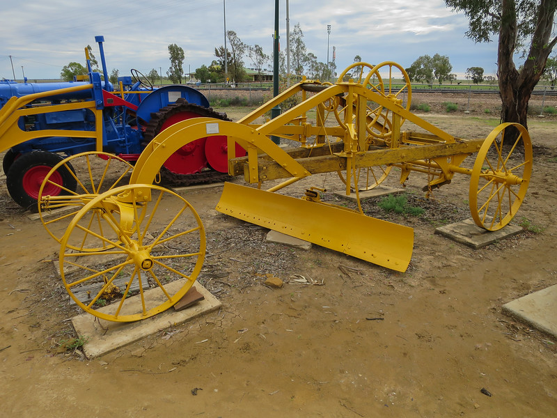 Early 9 Horse Drawn Grader - Ilfracombe, Queensland<br /> Used for Fire Ploughing