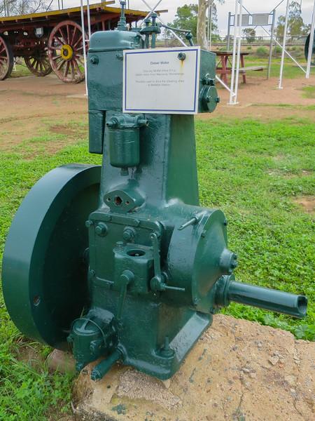 Diesel Motor - Ilfracombe, Queensland<br /> Moffat Virtue 8 H.P. Diesel motor from Waroona, Stonehenge