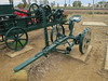The busted wheel - Ilfracombe, Queensland<br /> Years ago, horses bolted with this mower and smashed a wheel on a rock. Mr Davidson, the owner at the time, made a cement wheel as a replacement.