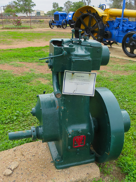 Diesel Motor - Ilfracombe, Queensland<br /> Ronaldson & Tippett 8 H.P. Diesel engine from Waroona Stonehenge
