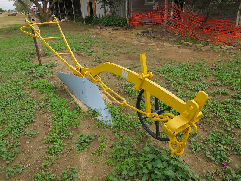 Road Plough - Ilfracombe, Queensland<br /> Pulled by 10 horses and used for Dam sinking