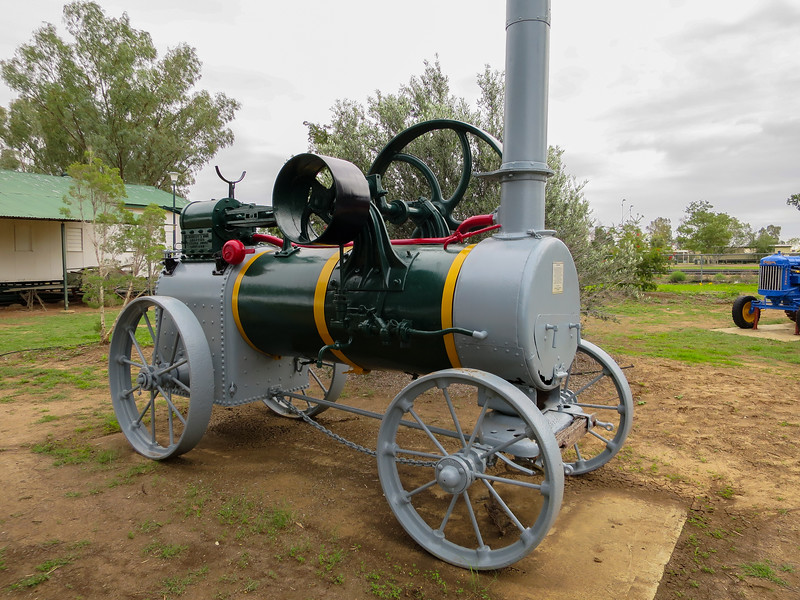 Steam Engine - Ilfracombe, Queensland<br /> This 3 H.P. Steam engine was owned by Tom Sleeman of Barcaldine and was used to drill many bore holes in the Central West.
