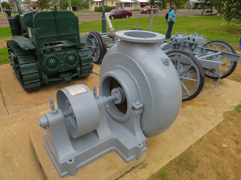 "The Big Pump - Ilfracombe, Queensland<br /> This 12"" pump was used at Wellshot Station, Rodney Downs and Navarre Station to pump up dams."
