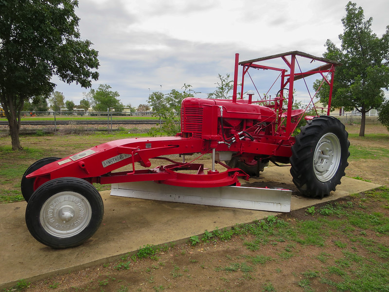 Grader - Ilfracombe, Queensland<br /> This Greyhound Grader is a modified Farmall M Tractor.