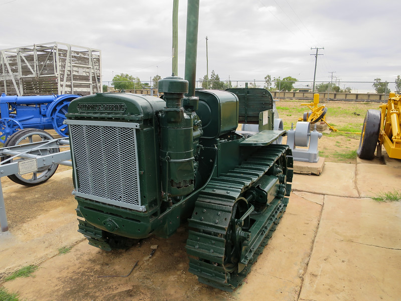 Crawler Tractor 18 H.P. - Ilfracombe, Queensland<br /> The McCormick-Deering T20 Petrol/Kerosene crawler tractor weighs 3 ton and was manufactured between 1928 and 1929. The tractor was last used on Vacy Station, Yaraka