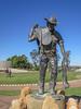 "Australian Stockman's Hall of Fame - Longreach (Queensland)<br /> ""The Ringer"" Artist: Eddie Hackman 1998"