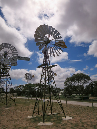 Metters Master Nuoil Windmill 10' Windmill - Penong Windmill Museum - Penong, South Australia. Made by Kevin Shipard. Made 1919-1958 Donated by Tony & Jan Philp of Parawa Tower on loan from Kia Smith & family.