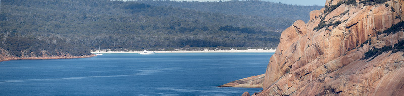 Cape Tourville - Freycinet National Park. looking towards Wineglass Bay, Tasmania