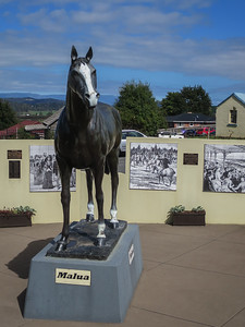 Malua Statue - Deloraine, Tasmania Birthplace of Malua (Previously Bagot)  Inducted to the Australian Racing Hall of Fame 2003