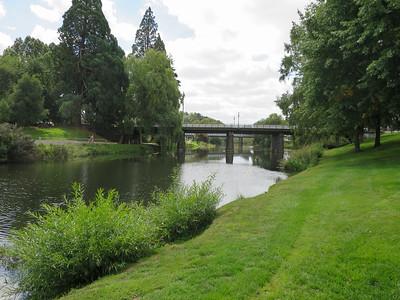 The Deloraine Bridge - Meander River, Deloraine, Tasmania The stone piers on the bridge were built in 1877