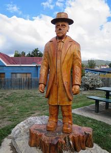 Woodcarving of John Geeves (1820-1914) - Geeveston, Tasmania