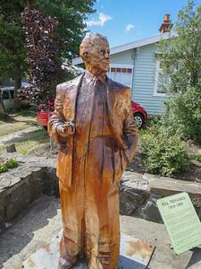 King Billy pine woodcarving of Bill Trevaskis (1914 - 1999) - Geeveston, Tasmania By Bernie Tarr