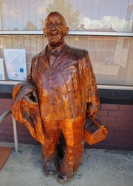 Woodcarving of Dr Oswald Theodore Kyle (1911 - 1980) - Geeveston, Tasmania