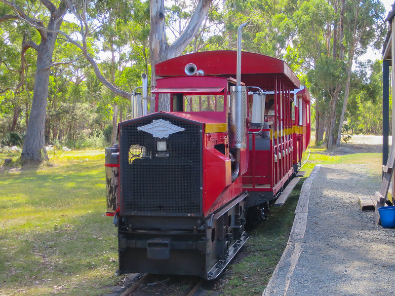 "Ida Bay Railway, Tasmania<br /> The 2' 0"" gauge (610mm) was constructed in 1922 and was in service until 1975<br /> It is Australia's southern most railway"