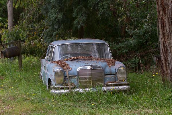 Tired vehicle - Yackandandah, Victoria