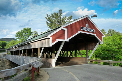 Jackson Covered Bridge in spring, NH Covered Bridge number 51, built in 1876.