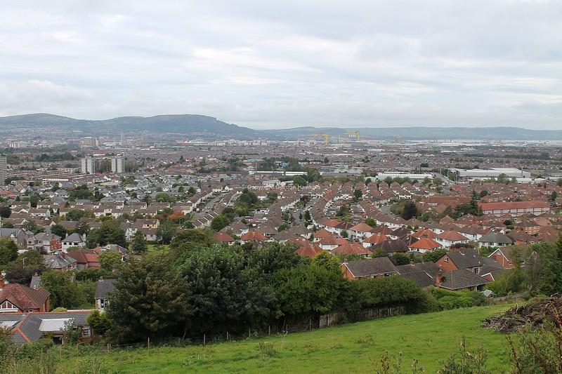 27.9.12. View of East Belfast .Photo taken from the Cregagh Hills Belfast.
