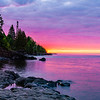 Lake Superior Sunrise #3 Magenta Morning