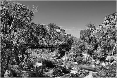 Walking Bridge, Zion National Park