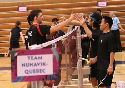 Badminton: These photos are copyright photos of the Arctic Winter Games International Committee and are for exclusive of the Arctic Winter Games, Arctic Winter Games International Committee, Arctic Winter Games Hosting Communities and promotions of the Ar