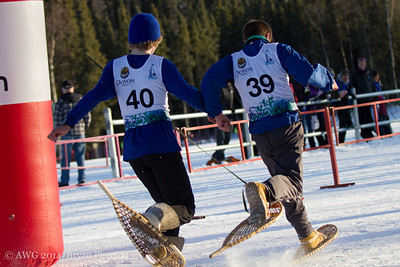 Snowshoeing: These photos are copyright photos of the Arctic Winter Games International Committee and are for exclusive of the Arctic Winter Games, Arctic Winter Games International Committee, Arctic Winter Games Hosting Communities and promotions of the