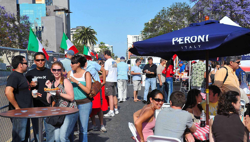 Peroni Beer & Wine tent at the San Diego Sicilian Festival