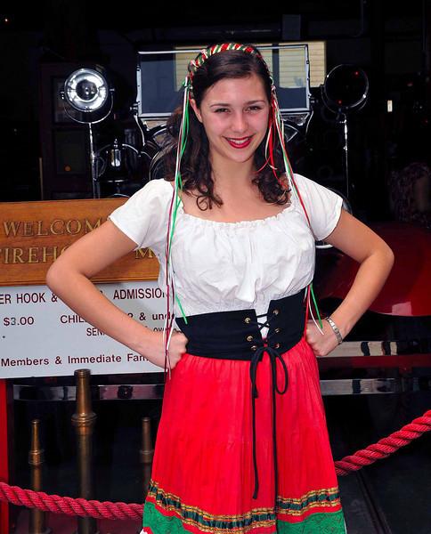 Sicilian girl in costume