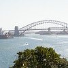 Opera house and harbor bridge from the lookout at HMAS Kuttabul
