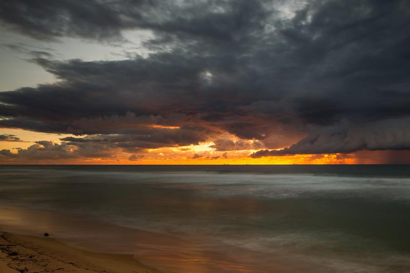 Fiery Pacific Sunrise at Currimundi Beach