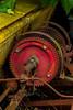Rusty Hub of Spoked Wheel