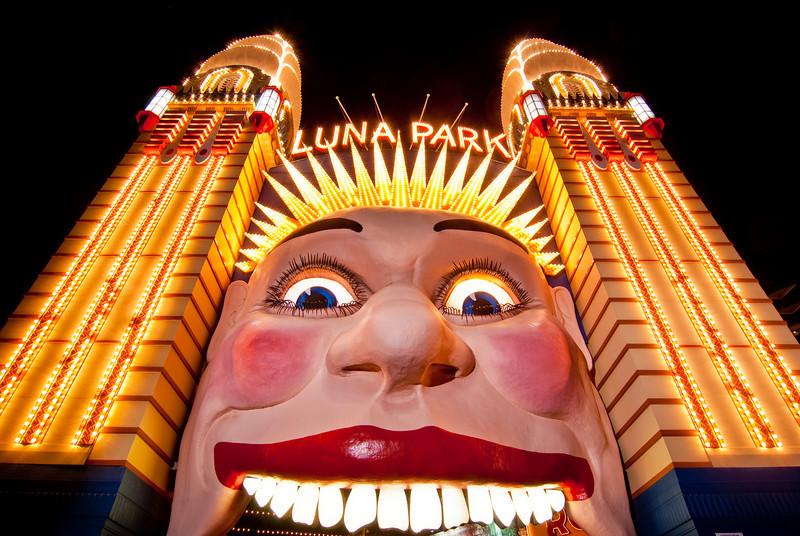 Shot at the Mosman Camera Club meet at Luna Park and Sydney Harbour Bridge